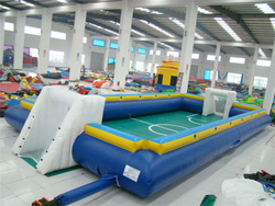 hot sales sport game customized inflatable human foosball for adult and children