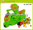 Pull line police motorcycle candy toy with ringing,Candy Filled in Plastic Toys
