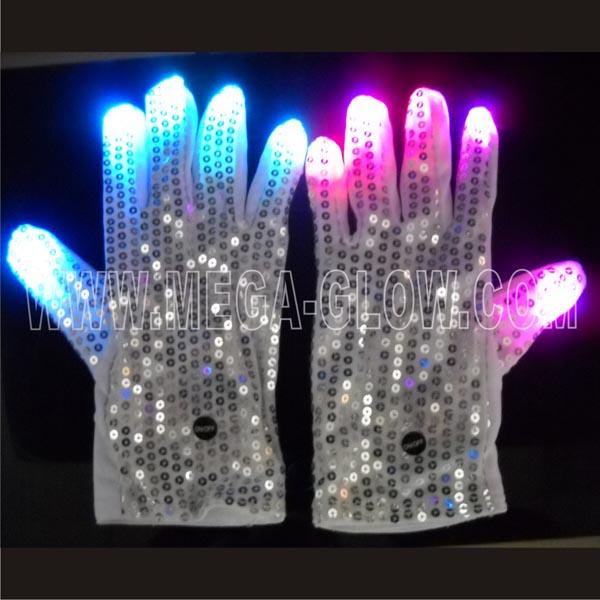 halloween decoration unique led light up finger gloves