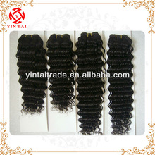 Natural brazilian hair extensions, full cuticles attached deeply curly hair weaving
