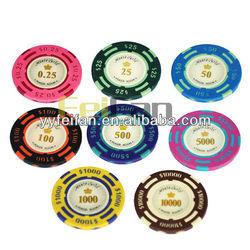 14g Three Tone Casino Monte Carlo real clay poker chips