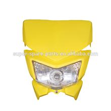 China yellow mini moto dirt bike head light