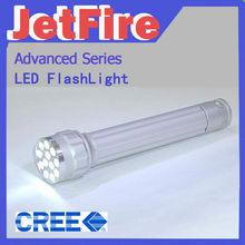 Black 4.5v 1 Mode 3 x AAA Battery Portable 3 Watt LED Flashlight Torches