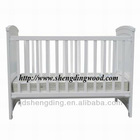 white wooden baby crib BC-001