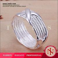 Mesh silver ring with Cross shape,fashion 925 silver jewelry rings LKNSPCR066