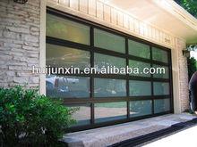 Glass insert garage door