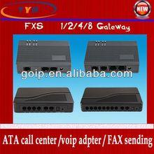 Best seller! 1/2/4/8 port fxs Gateway support SIP&H.323 protocal voip phone adapter 32 port fxs gateway