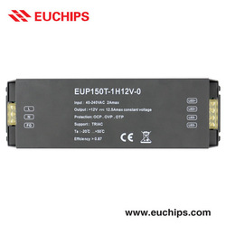 150W Triac Dimmable Driver [EUP150T-1H12V-0] 40-240VAC in, 12V, 150W