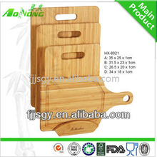 high quality bamboo cutting board with ping-pong shape