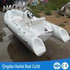(12.8')390cm rigid fiberglass inflatable RIB pontoon boat