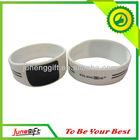 Custom 1 inch rubber wristband silicone bracelet, silk screen printing logo