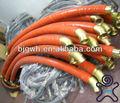 borracha de silicone revestido de fibra de vidro luva para mangueira hidráulica