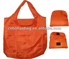 polyester foldable shopping t-shirt bag
