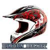 HUADUN DOT/ ECE motorcycle off road helmet, red black off road helmet, stylish helmet HD-802