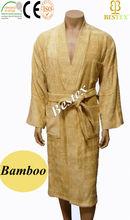 Khaki Mens Hammam Franc Bamboo Terry Adults Wholesale Bathrobe