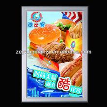 Restaurant Backlit Board Advertising Aluminum poster frame/Slim Light Box/Frame Picture