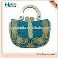 bonito borboleta de palha de trigo bolsa de tecido