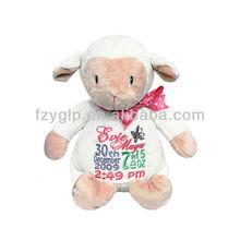 cute soft little lamb stuffed animal mascot toys,custom plush souvenir for promotion gifts
