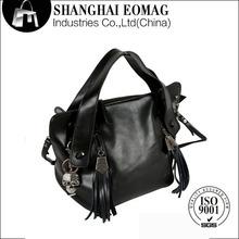 German QUTAS Design Genuine Leather Black Tassels Handbags