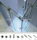 Popular Stainless Steel material Frameless Shower glass Door Hardware
