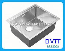 Kitchen Design-Special Stainless Steel Handmade Sink-RFS 100A-1
