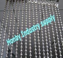 elegant silver plated metal ball chain sliding curtain