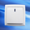 10A European type illuminated 1 gang 1 way electrical light switch