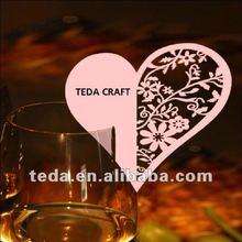 Laser Cut Heart Design Wedding Table Decoration Place Cards