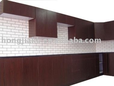 Espresso Melamine Kitchen Cabinet (HJKC-30)