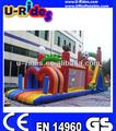 2014 20 m longue gonflable aire de jeux / cours de jeux gonflables pour adultes