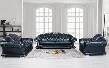 Sofá de couro/alta qualidade moldura de madeira sofa chestesterfield f56