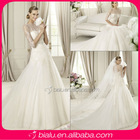 2014 sexy 3/4 sleeve wedding dress