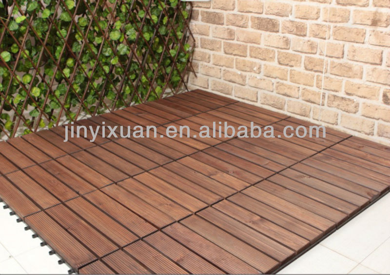 Outdoor Garden Wooden Composite Decking Interlocking