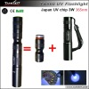3W 365nm uv flashlight keychain/uv led keychain/led keychain light TANK007 TK566