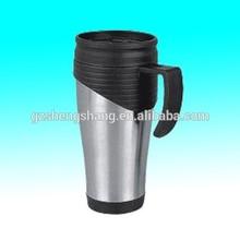 16OZ double wall plastic travel mug with bpa free