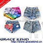 2014 Newly Design Brand Women Denim Shorts /Fashion Lady Shorts Jeans (GK-SWHJ01)