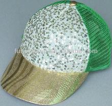 Children Bright Sequin Mesh Baseball Cap