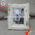 Blanco Shabby Chic francés estilo Vintage marco de fotos de madera