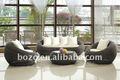 pátio ao ar livre mobília do rattan sintético sofá de design clássico conjunto