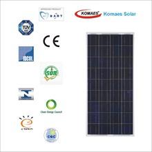 150W Solar Panel with TUV IEC MCS INMETRO IDCOL SONCAP Certificate [EU Antidumping Duty-Free]