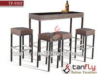 brown elegant pool wicker bar stool rattan outdoor bar furniture