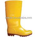 De color amarillo anti ácido- base de pvc de trabajo botas