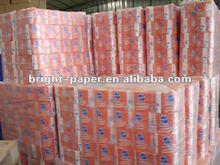 White Toilet Tissue Paper Roll