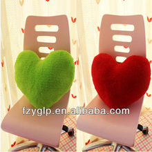Bright color super soft plush stuffed heart shaped Valentine's promotional cushion pillow