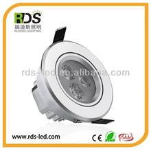 Factory wholesale 250-280lm 30/45/60 degree beam angle high brightness 3w 12v led ceiling dome light