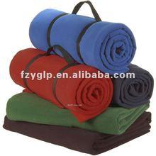 Polar fleece travel blankets, polyester blanket for promotional gifts