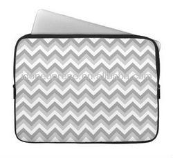 "10"" Fashion New Design Neoprene Laptop Case Sleeve-Grey and White"