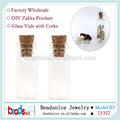 id beadsnice 23327 pequeñas botellas de vidrio decorativo con tapones de corcho transparente frasco de vidrio con corcho zakka para botellas de vidrio