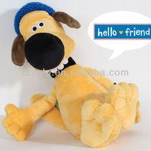 plush stuffed black big nose dog toys, animal shape toy for promotion gift