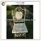 Foldable Handcraft White Iron Chair Costco